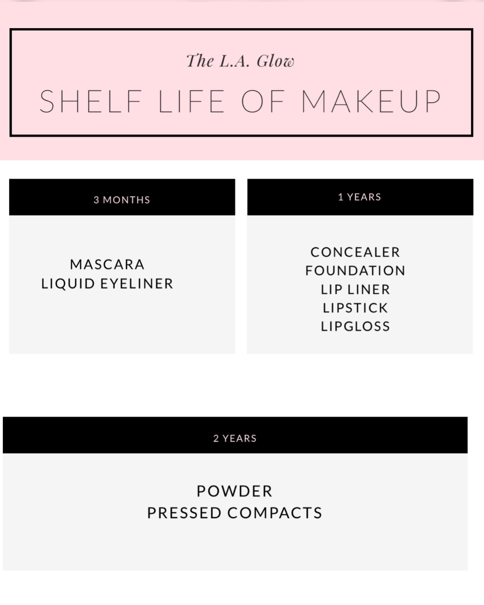 shelf life of makeup los angeles esthetician