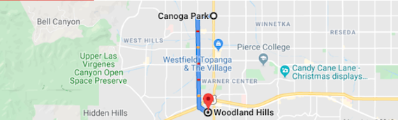 Canoga Park To Woodland Hills CA Is Really Close To The L.A. Glow