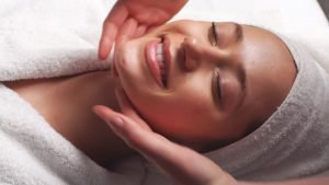face massage benefits smiling lady